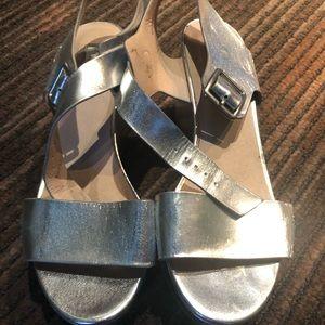 TopShop Silver Platform Sandals